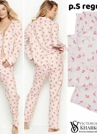 Пижама и тапочки розовая s victoria's secret5