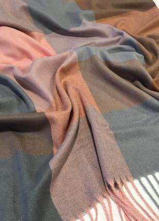 Шерстяной шарф в клетку палантин шарф плед унисекс шарф in ua