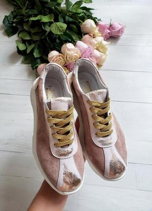 1a2da373 Демисезонные / зимние кроссовки из натуральной замши / кожи с напылением рр  36-40