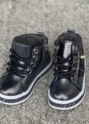 Демисезонные ботиночки для девочки, хайтопы, обувь для девочек, весна 2019