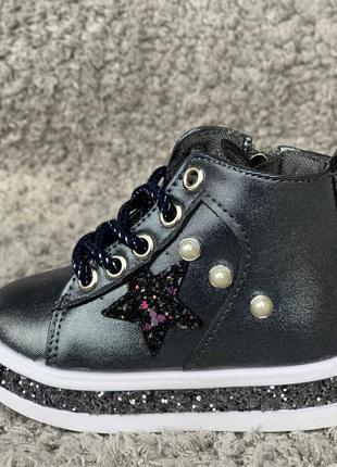 Демисезонные ботиночки для девочки, хайтопы, обувь для девочек, весна 20192