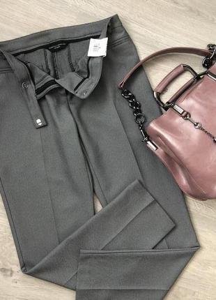 Очень стильные укороченные брюки в клеточку. брюки принт гусиная лапка. р uk 8, eur 36