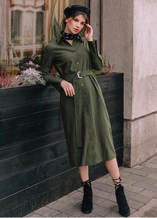 Качественное и красивое зеленое платье 👗