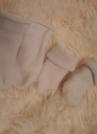 Комплект махровых носочков на 6-12 мес