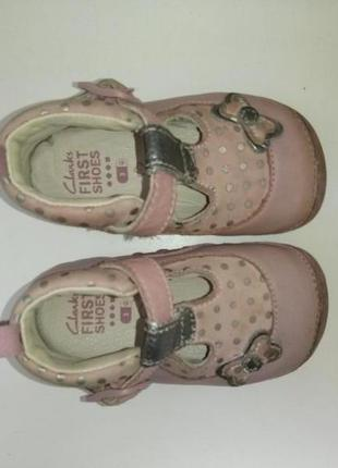 Ботинки туфли  clarks, р. 18-18,5. кожа