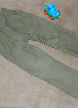 Штаны брюки детские цвет зелёный на мальчика 4-5 лет mothercare.