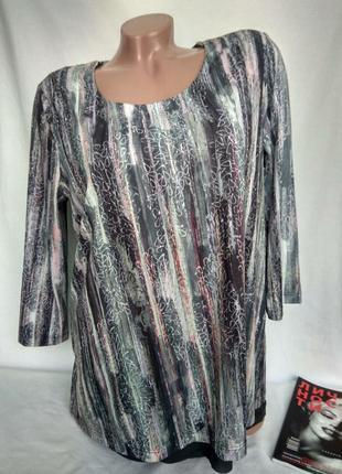 Аккуратная эластичная блуза с подкладом рукав 3/4 р. m , от bonita