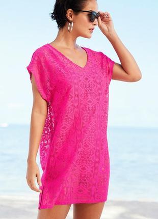 Пляжное платье. пляжная туника накидка на купальник