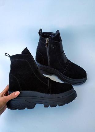 Ботинки,кросы на высокой плотформе.. натуральная замша.36-41.