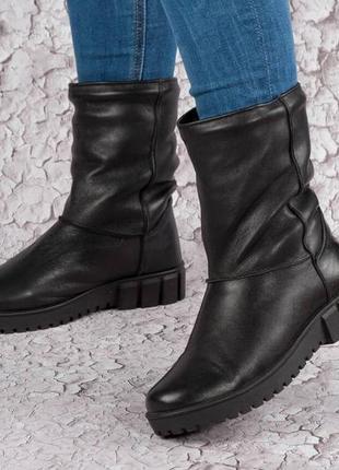Ботиночки, натуральная кожа и замша.мех.36-41.распродажа!!!