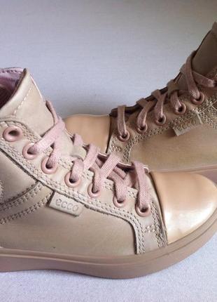 Стильные пудровые деми кроссовки хай-топы, ботинки ecco  👟 р. 29 ст.18,5 см оригинал !!!