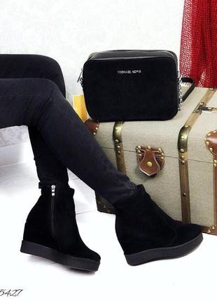 Ботиночки,на плотформе, мех, натуральная замша.36-41. распродажа!!!