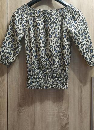 Блузочка леопардовая