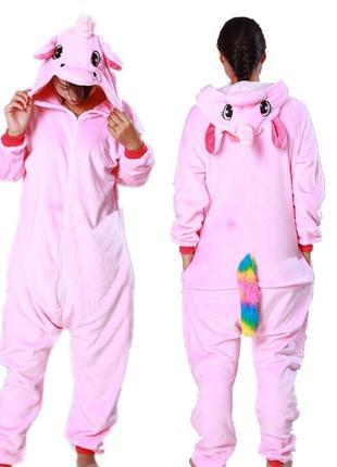 Кигуруми звездный единорог - стильная пижама для девочек всех возрастов. размер 155-168
