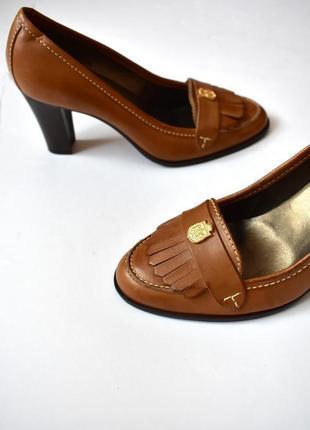 36/23,5 см – vip - talbots – шикарные кожаные туфли – 100% натуральная кожа – новые