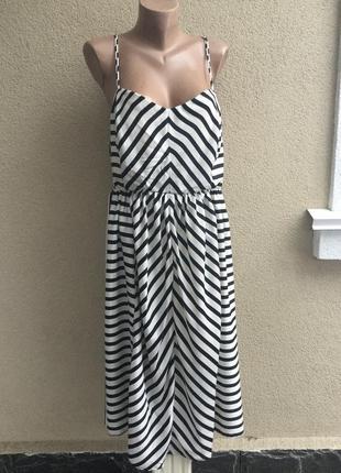 Летний костюм двойка(сарафан(платье)+блуза на запах(рубашка))в полоску,большой размер