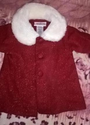 Теплое платье новый год для малышки