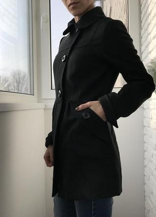 Пальто осень, пальто весна, пальто чёрное, пальто короткое