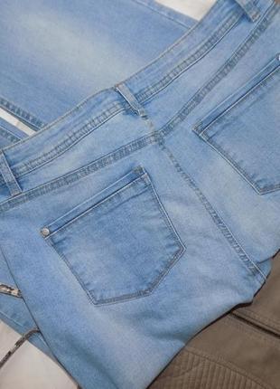 Ровного кроя джинсы на весну, высокая талия4