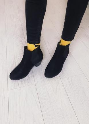 Ботинки на широком каблуке, челси