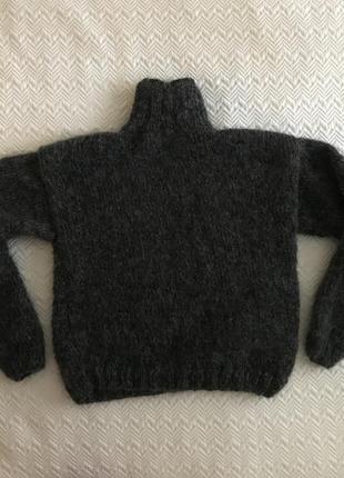 Свитер мохеровый тёмно-серый7