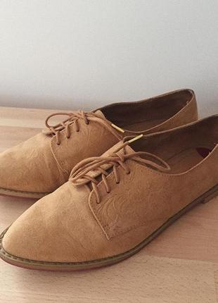 Туфли лоферы bershka натуральный замш