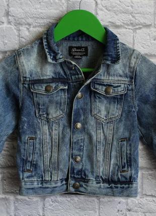 Джинсовая курточка denim co на 2-3 года рост 98 см