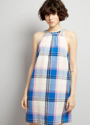 Яркий легкий сарафан из льна с завязками сзади, платье летнее new look