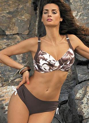 Daphne м-318 brown раздельный купальник на большую грудь коричневый marko