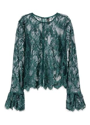 Кружевная блуза топ h&m p.40-42
