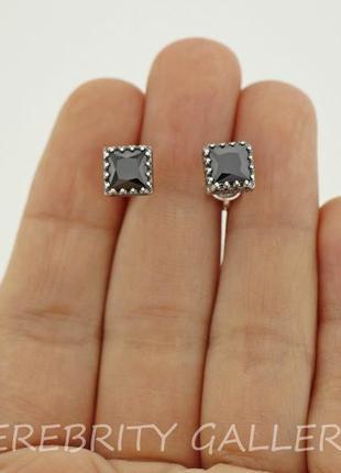10% скидка - подписчикам! серьги гвоздики (пусеты) серебряные. i 262183 bk