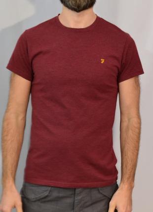2602\30 бордовая футболка farah m