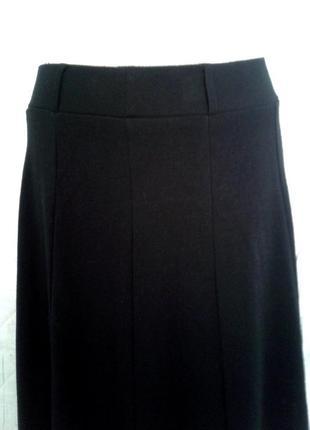 Вискозная черная юбка 10ти-клинка, l