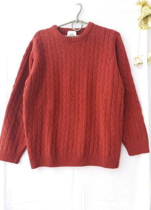 Шерстяный теплый свитер