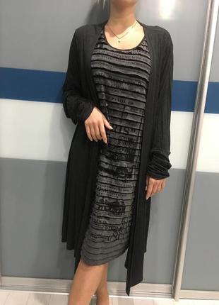 Платье обманка- кардиган