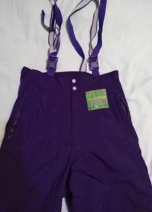 Лыжный зимний комбинезон-штаны на подтяжках