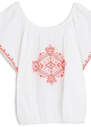 Легчайшая батистовая блуза oysho