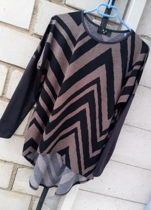 Стильный свитерок удлененный сзади раз. xl-xxl