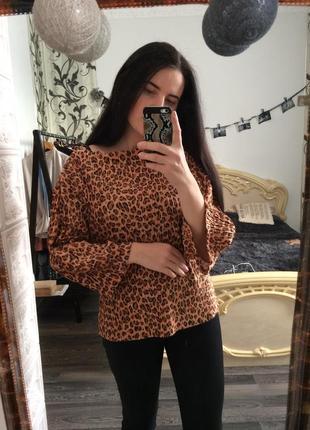 Плісірована блузка zara