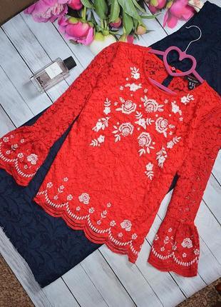 Шикарная кружевная блуза от new look