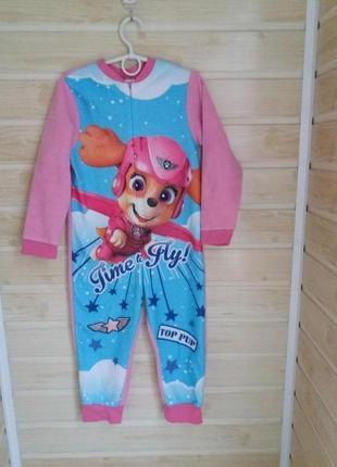 Теплая пижама слип кигуруми 4-5л nickelodeon