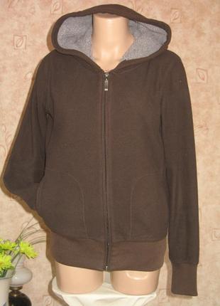 Куртка флисовая коричневого цвета  размер l