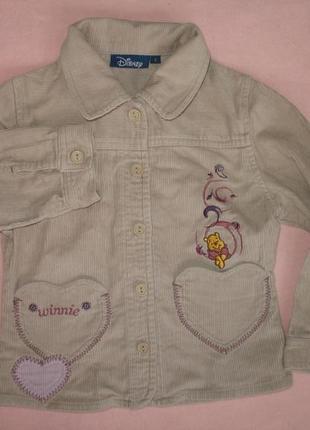 Рубашка вельветовая тонкая куртка на 6 лет