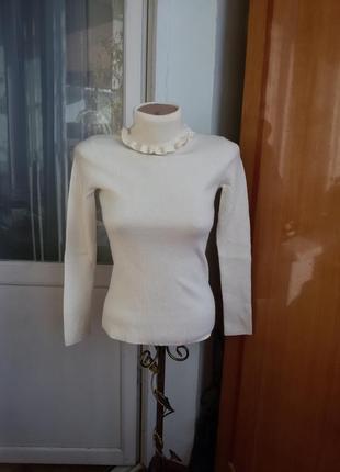 Шерстяной свитер / водолазка vanessa seward 100% мягкая шерсть мериноса