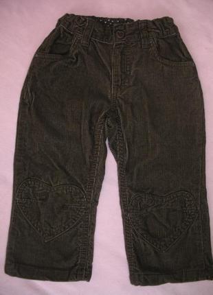 Штанишки вельветовые цвет темно коричневый
