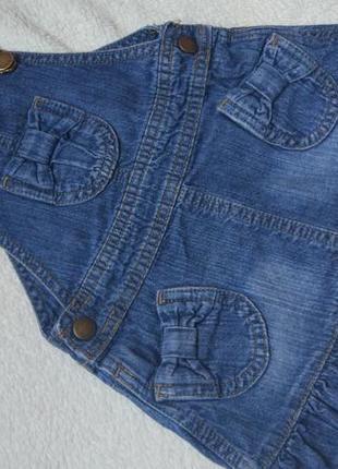 Джинсовый сарафан комбинезон юбка george на 9-12 месяцев