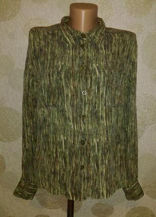Винтаж шелковая блуза рубашка ирландский дизайнер