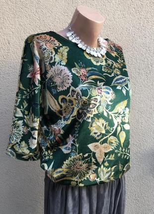 Зеленая бархат,велюр кофточка с золотым переливом,реглан,блуза,вечерняя,нарядная3 фото