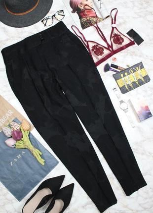 Обнова! брюки люкс бренд uterque зауженные укороченные набивной принт
