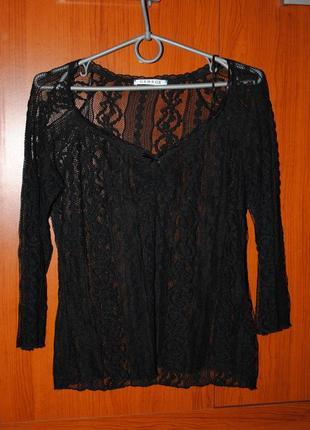 Гипюровая блуза кофточка